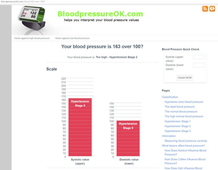 BP Quick Check calculator by bloodpressureok.com